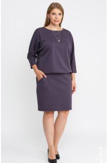 """Платье """"Лина"""" 52110 (Фиолетовый меланж)"""