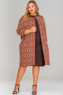 Кардиган-пальто 1517901 ЛаТэ (Мультиколор)